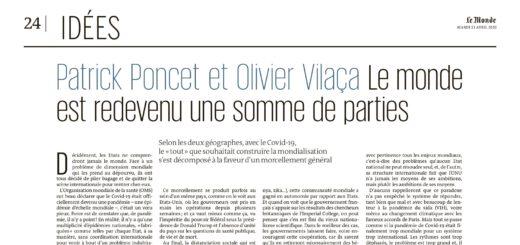 Tribune Le Monde Poncet Vilaça